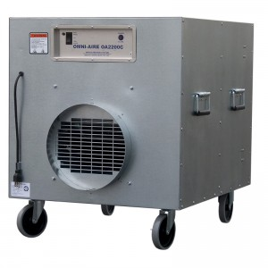 Mold remediation - negative air machine two
